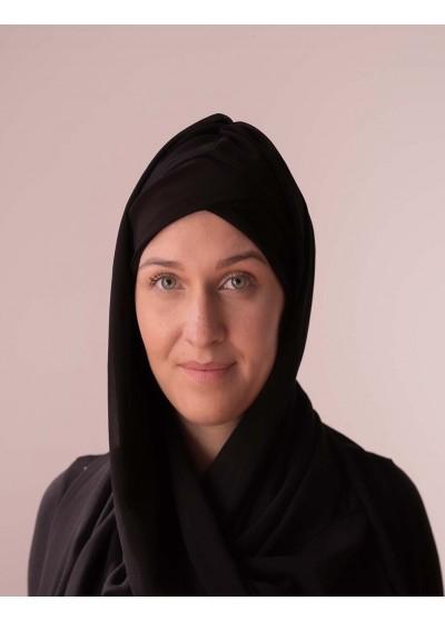Hijab à enfiler noir