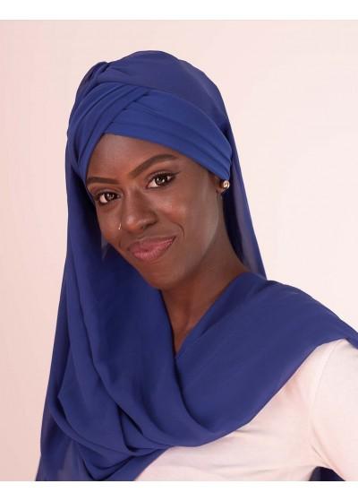 Hijab à enfiler bleu roi