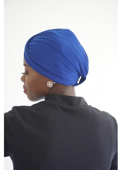 Turban bleu