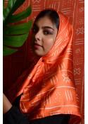 Carré de soie Taghanti imprimés Bogolan