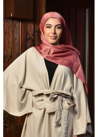 Hijab en viscose rose incarnat